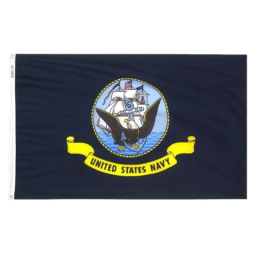 Economy Polyester Navy Flags