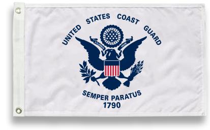 Military-Grade Nylon Coast Guard Flags