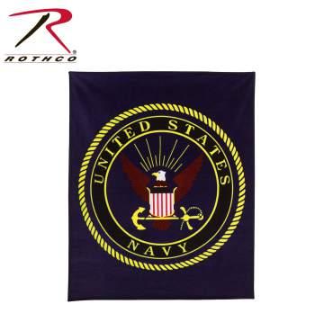 US Navy Fleece Blanket