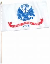 US Army Stick Flag - 12 in X 18 in