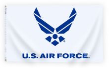 Nylon Air Force Logo Flag - 3 ft X 5 ft