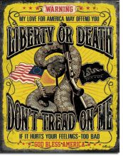 Don't Tread On Me Warning Vintage Tin Sign
