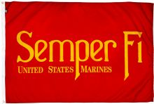 3'x5' Nylon Semper Fi USMC Flag