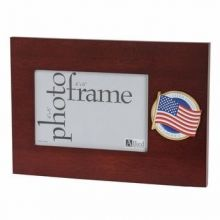American Flag Medallion Desktop Picture Frame - 4 in X 6 in