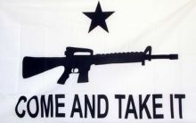Come and Take It Rifle Flag
