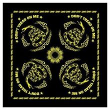 Don't Tread on Me Bandana - Black