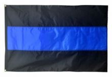 Heavyweight Nylon Thin Blue Line Flag