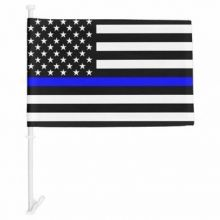 Thin Blue Line US - Car Flag