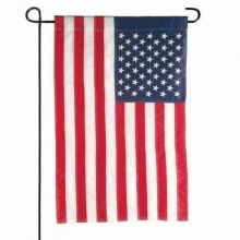 US Flag Garden  Banner & Bracket Set