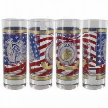 USMC Bulldog Shot Glass
