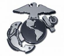 USMC Insignia Chrome Auto Emblem