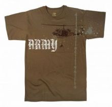 Vintage Army Helicopter T-Shirt - Brown
