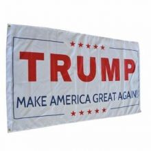 Donald Trump Make America Great Again Flag - White
