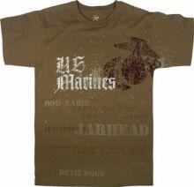 Vintage Brown U.S. Marines Globe & Anchor T-Shirt
