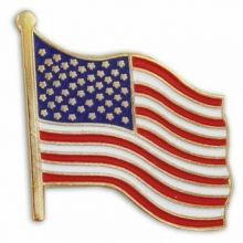 Waving American Flag Lapel Pin