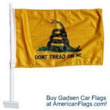 Premium Gadsden - Car Flag
