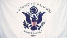 Economy Printed Coast Guard Flag - 2 ft X 3 ft