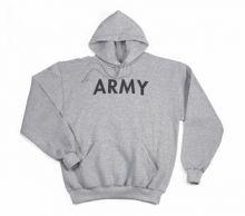 Army PT Pullover Hooded Sweatshirt - Grey