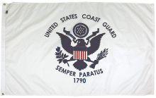 Mil-Tex Military-Grade Coast Guard Flag - 3 ft X 5 ft