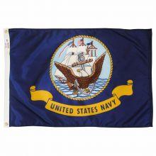 Nylon Navy Flag - 12 in X 18 in
