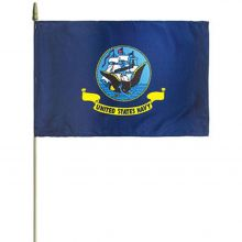 US Navy Stick Flag - 12 in X 18 in