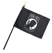 POW-MIA Stick Flags - 4 in X 6 in