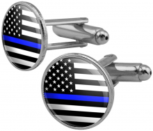 Thin Blue Line Cufflinks