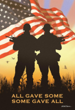 Some Gave All Vertical House Banner