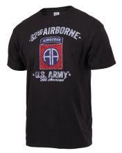 Black Ink Distressed 82nd Airborne T-shirt