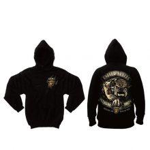 Black Ink U.S.M.C. Bulldog Hooded Pullover Sweatshirt