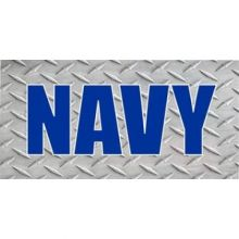 U.S. Navy Diamond Plate Photo License Plate