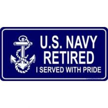 U.S. Navy Retired I Served With Pride License Plate