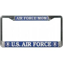 US Air Force Mom Chrome License Plate Frame