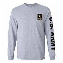 US Army Grey Long Sleeve Tee