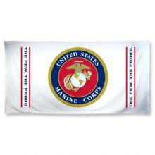 USMC Beach Towel - White