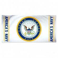 US Navy Beach Towel - White