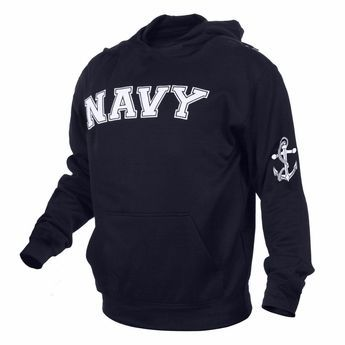 Embroidered US Navy Pullover Hoodie