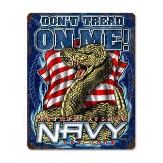 Navy Don't Tread On Me Steel Sign
