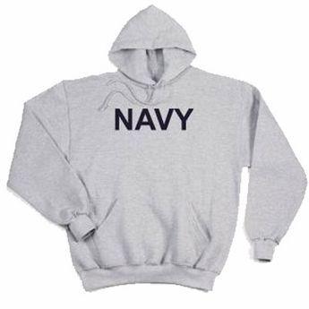 Navy Pullover Hooded Sweatshirt