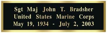 Engraving Plate for Flag or Coin Cases