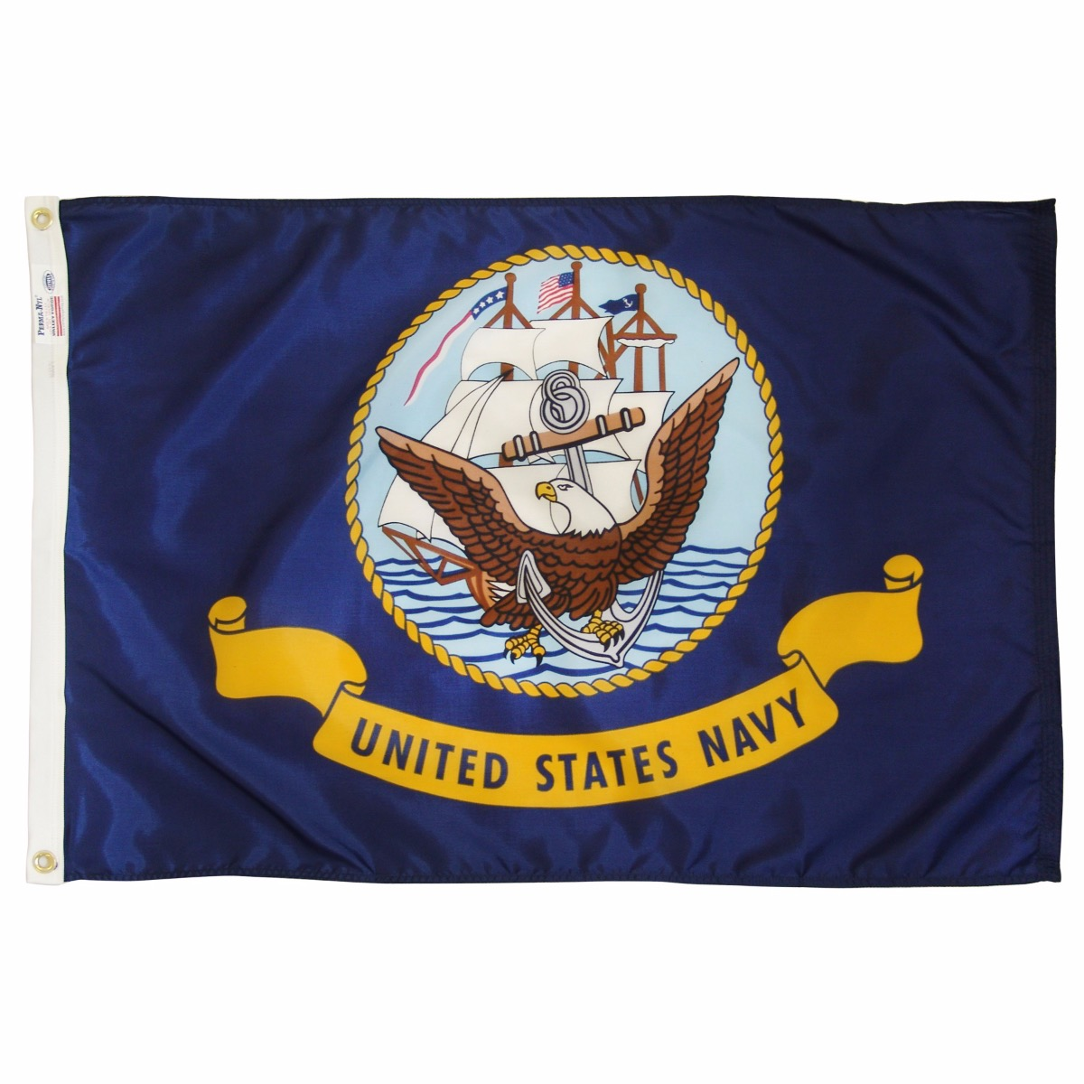 Nylon Navy Flag - 3 ft X 5 ft
