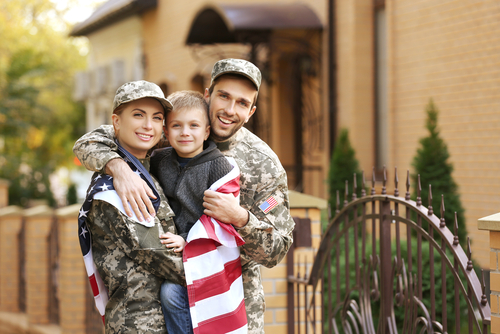 military family reunited